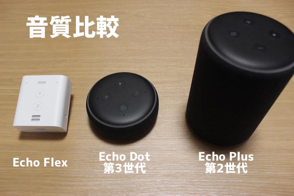 Echoの音質比較