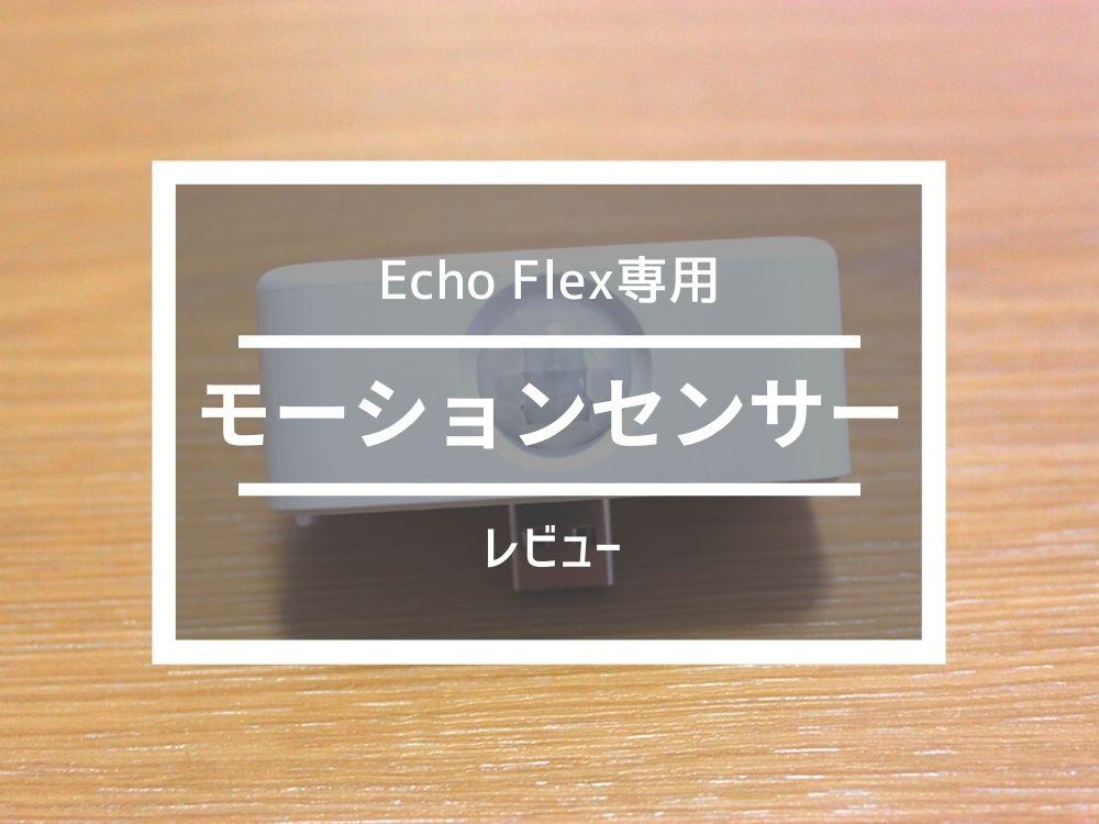 Echo Flex専用「モーションセンサー」レビュー